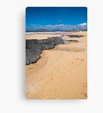 Landscape, Traigh Mhor beach, Finger of rock Canvas Print