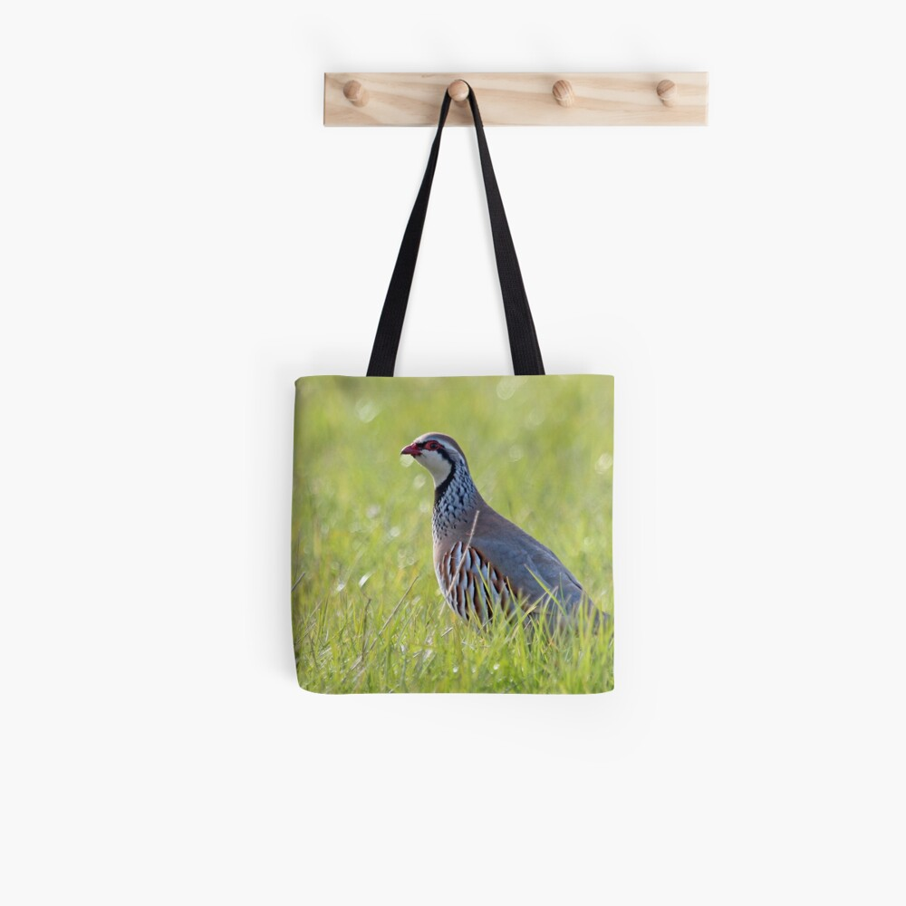 Red legged partridge Tote Bag