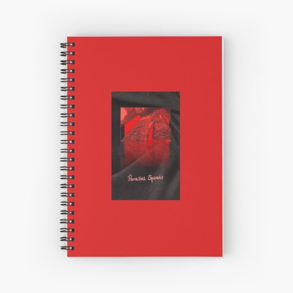 Parallel Spirals - Oxburgh Hall as Thornfield on fire Spiral Notebook
