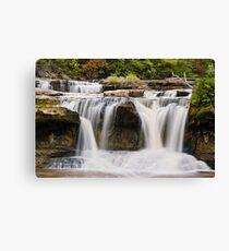 Upper Catarct Falls Pours trhough Boulders Canvas Print