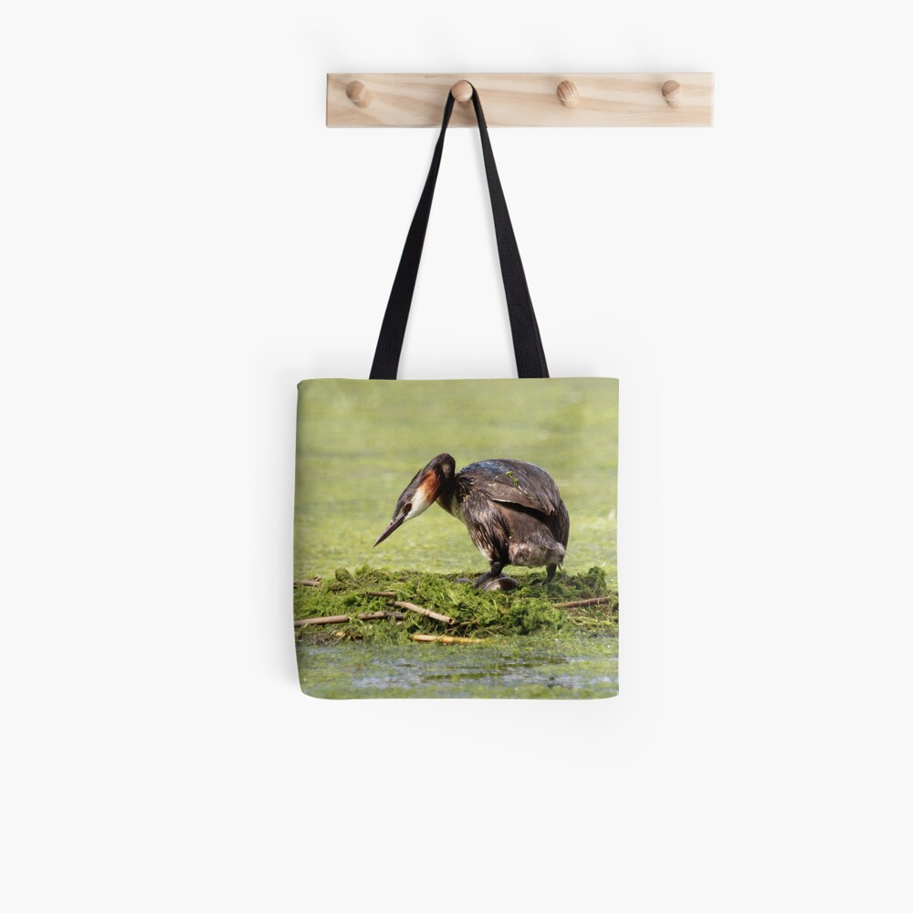 Great crested grebe Tote Bag
