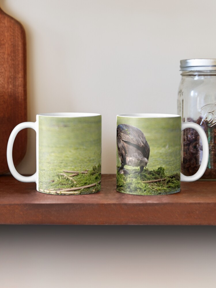 Alternate view of Great crested grebe Mug