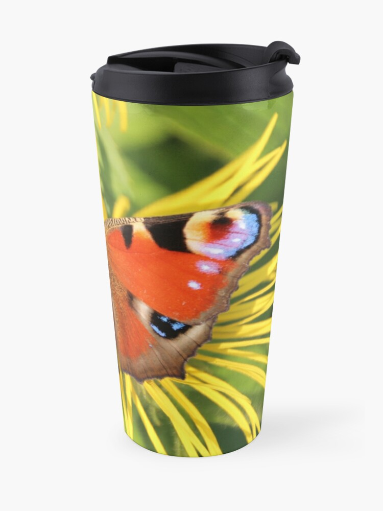 Alternate view of Peacock butterfly Travel Mug