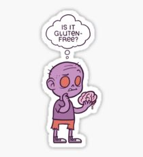Gluten-free Zombie Sticker