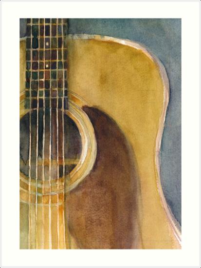 MARTIN GUITAR D-28 by Dorrie  Rifkin