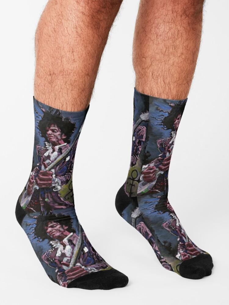 Alternate view of PRINTS OF PRINCE Socks