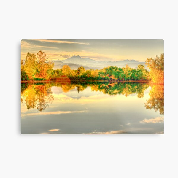 Reflections On Golden Ponds Metal Print