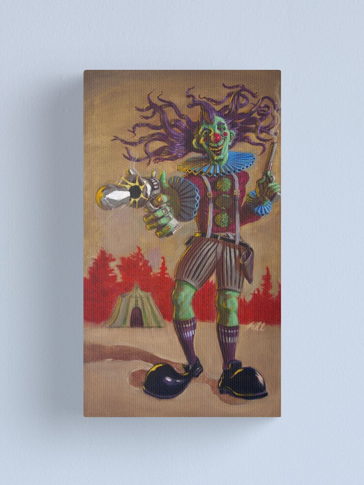 Alternate view of Rodney the Gunslinging Hermit Clown Canvas Print