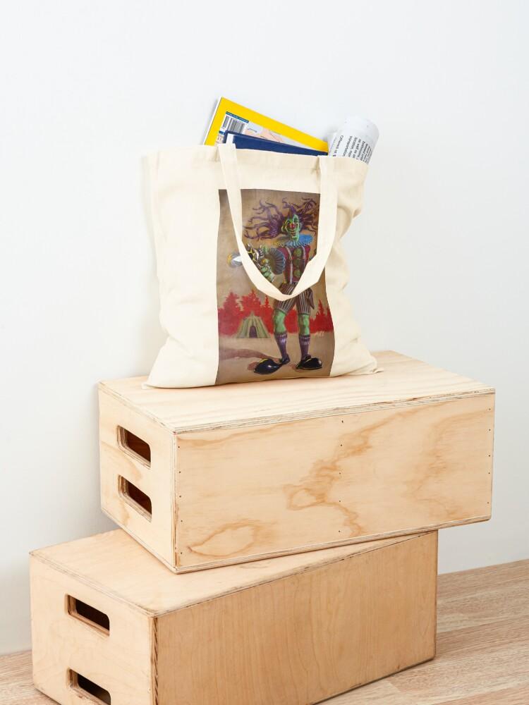Alternate view of Rodney the Gunslinging Hermit Clown Tote Bag