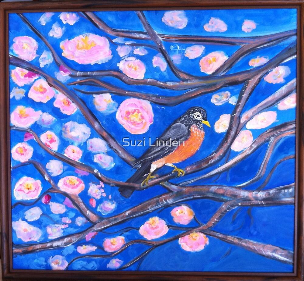 Robin Blossoms by Suzi Linden