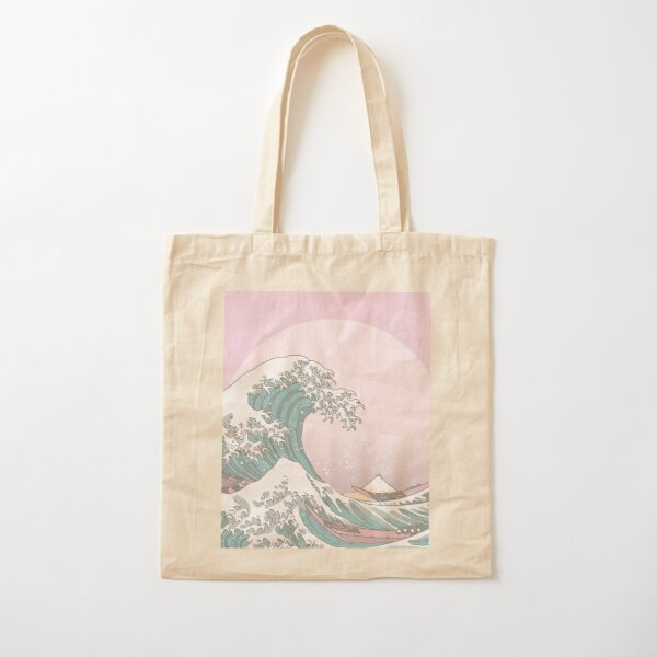 Great Wave Sailor Moon Colors Cotton Tote Bag