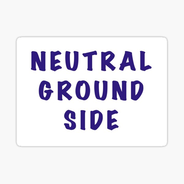 Mardi Gras Parade Neutral Ground Side Sticker