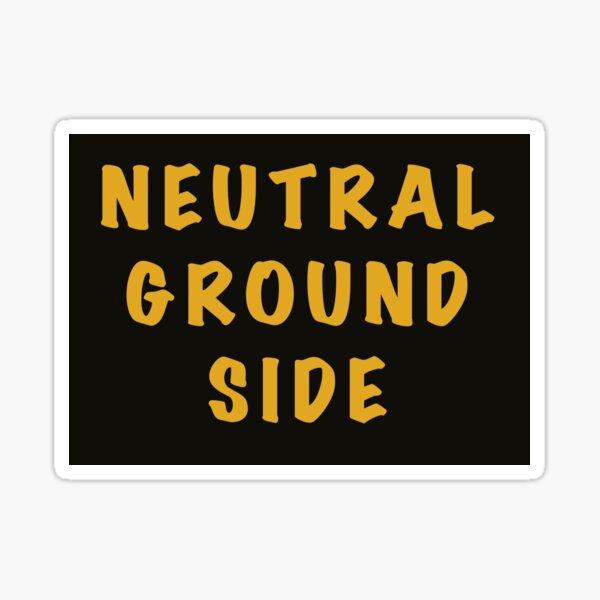 Neutral Ground Side Black and Gold Sticker