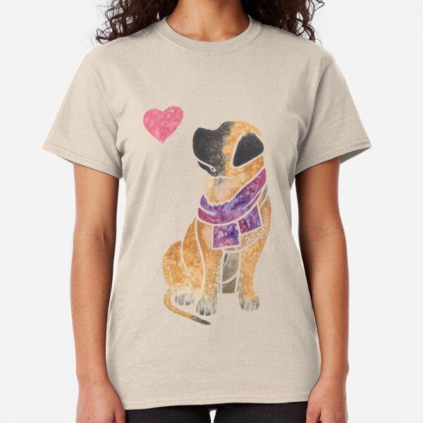 I Love Heart My Mastiff Ladies T-Shirt