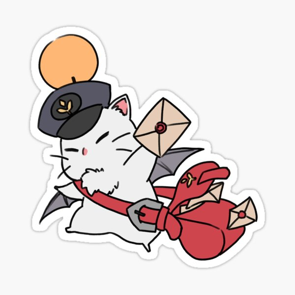 Delivery Moogle Sticker Sticker