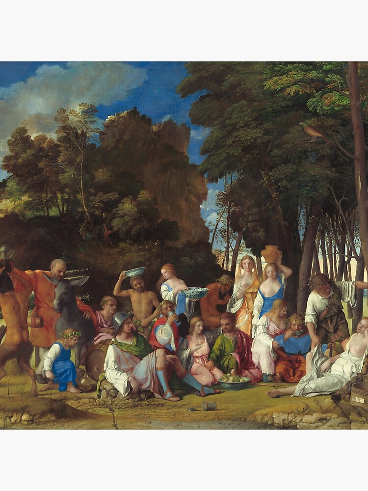 The Feast of the Gods Painting by Giovanni Bellini and Titian by podartist