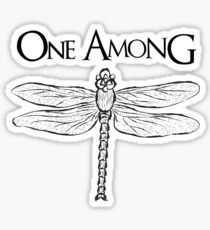 Dragonfly Among the Fence (Black) Sticker