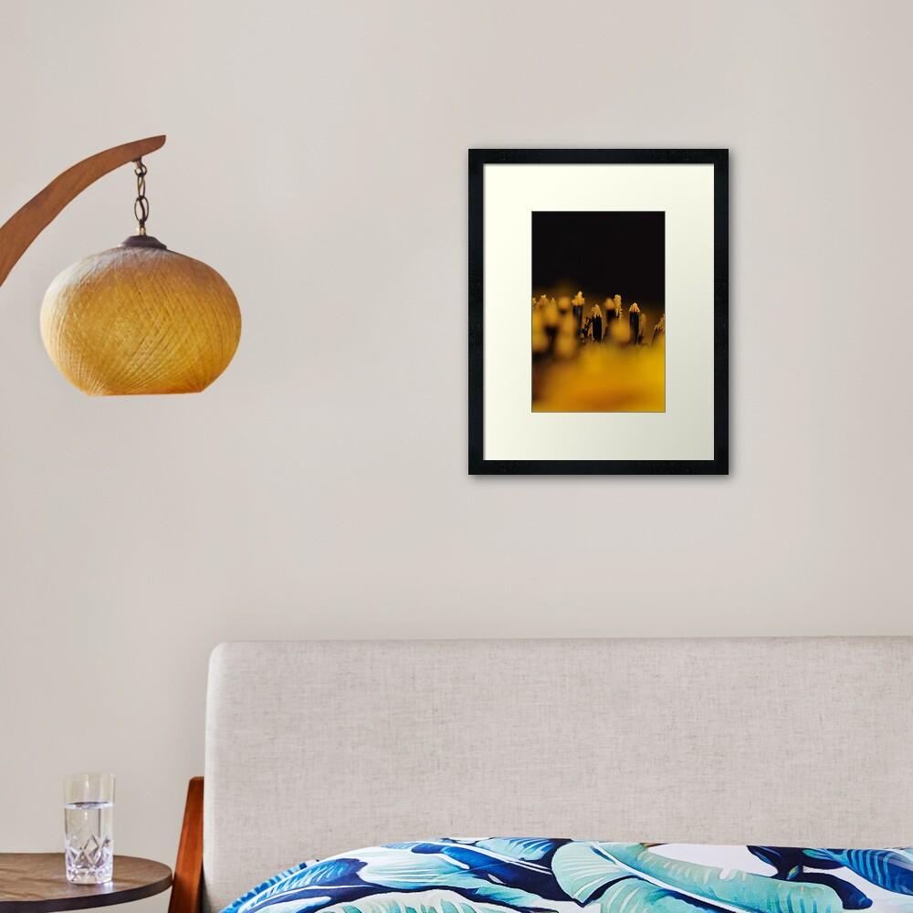 Sunflower 1:1 Framed Art Print