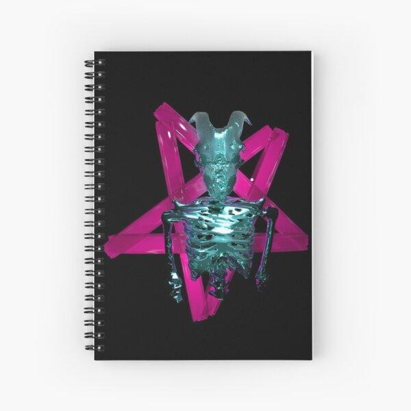 Neon Satanic glass concept  Spiral Notebook