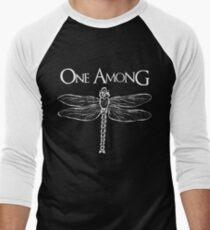Dragonfly Among the Fence (White) Men's Baseball ¾ T-Shirt