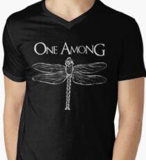 Dragonfly Among the Fence (White) Men's V-Neck T-Shirt