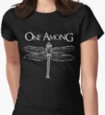 Dragonfly Among the Fence (White) Women's Fitted T-Shirt