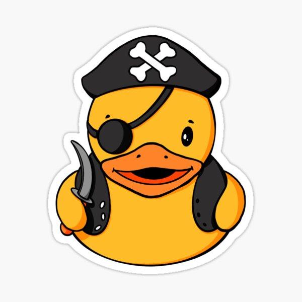 Pirate Rubber Duck Sticker