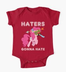 Pinkie Pie haters gonna hate with Text One Piece - Short Sleeve