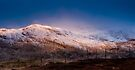 Meall Nan Tarmachan lit by the moon by Cliff Williams