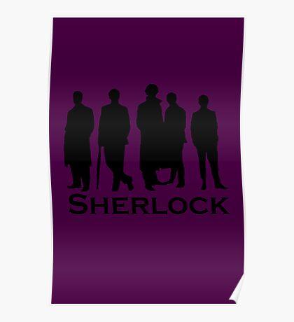Sherlock Cast Silhouette Poster Poster
