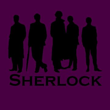 Sherlock Cast Silhouette Poster by Anglofile