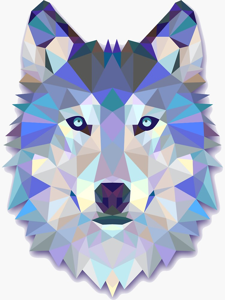 Cool Colorful Wolf by Twosided