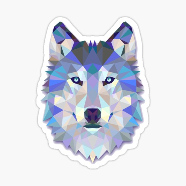 Cool Colorful Wolf Sticker