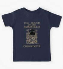 Hound of the Baskervilles Book Cover Kids Tee