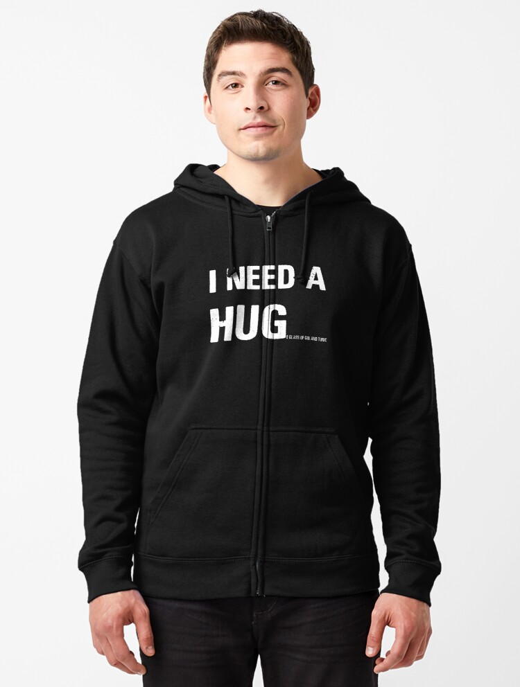 I Need a Hug Glass of Beer Funny Beer Lovers Blend Hoodie e