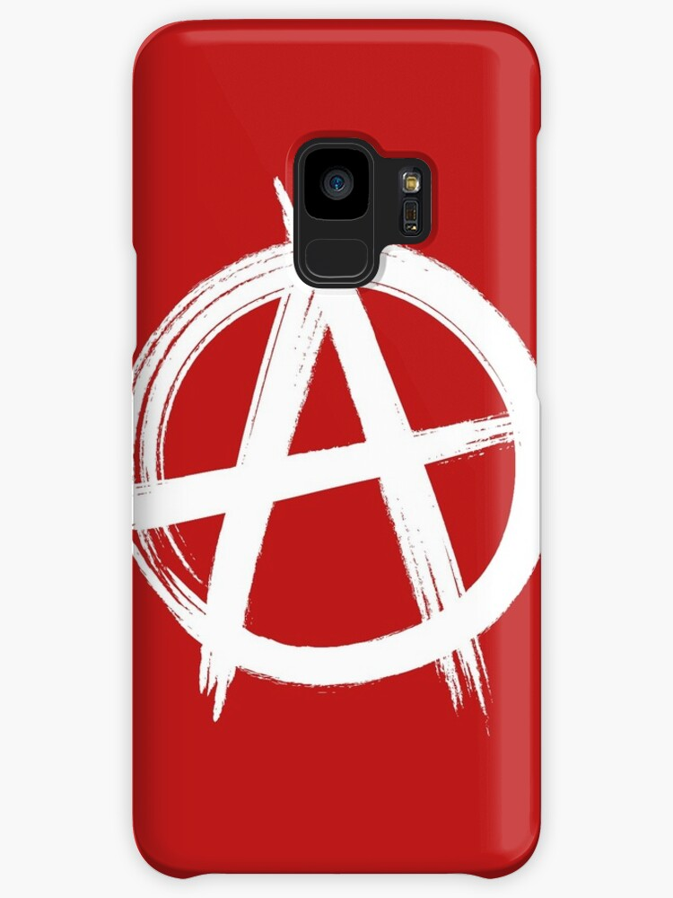 Circle A Anarchy Symbol Dark T Shirt Version Cases Skins For