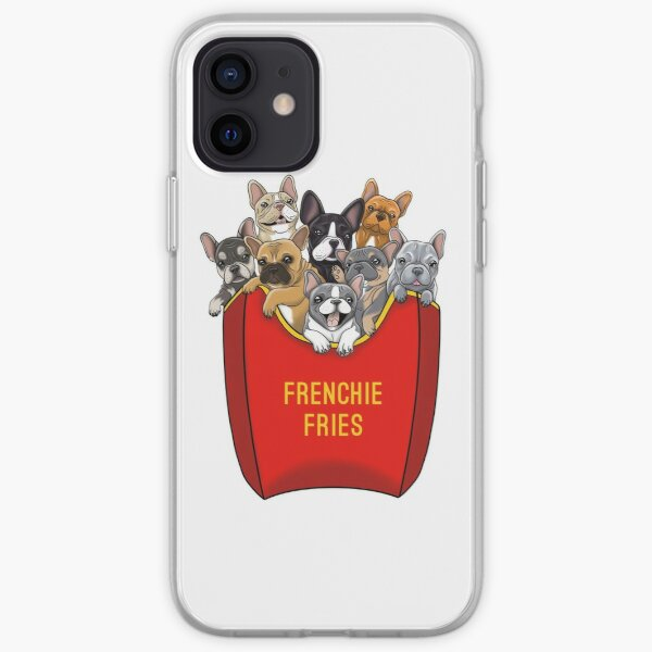 Bulldog Francés Frenchie Fries Funda blanda para iPhone