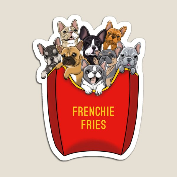 French Bulldog Frenchie Fries Magnet