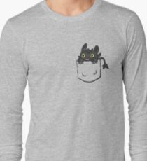 Pocket Toothless Long Sleeve T-Shirt