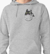 Pocket Toothless Pullover Hoodie