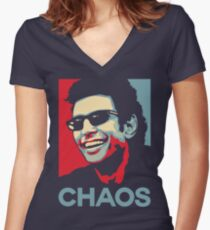 Ian Malcolm 'Chaos' T-Shirt Women's Fitted V-Neck T-Shirt