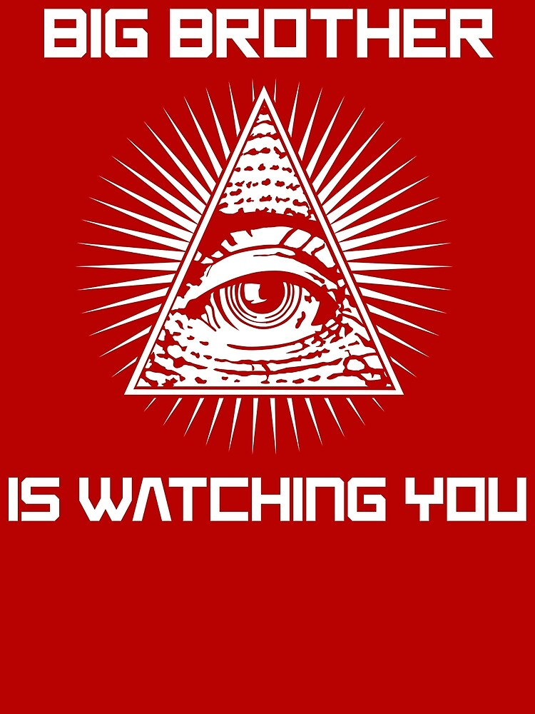 """Big Brother Is Watching You Illuminati Eye T Shirt"""" Greeting Card by  bitsnbobs 