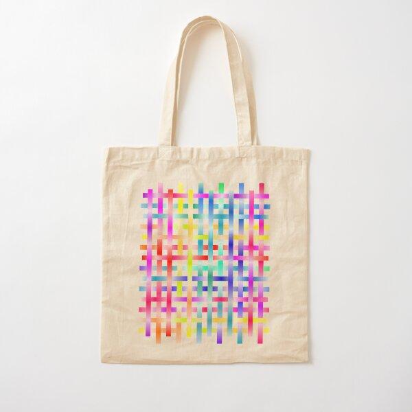 Strips Rainbow Cotton Tote Bag