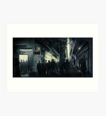 Cyberpunk Street at night Art Print