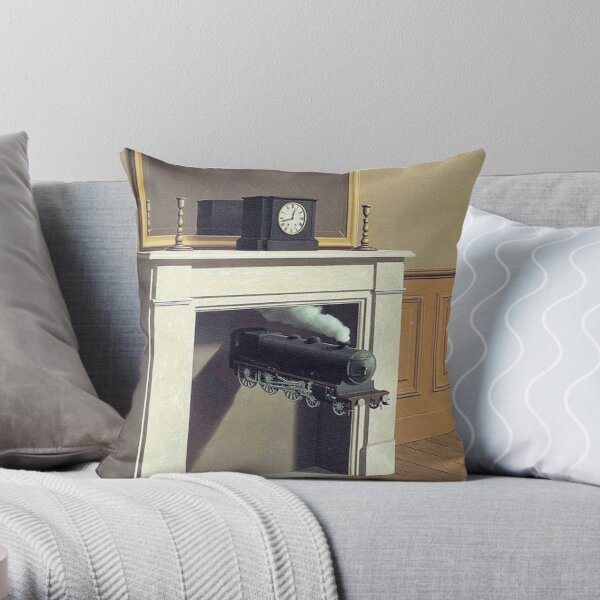 Time Transfixed - Rene Magritte Throw Pillow