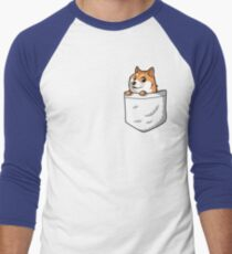 Doge Pocket (Pocket Doge T-Shirt) Men's Baseball ¾ T-Shirt