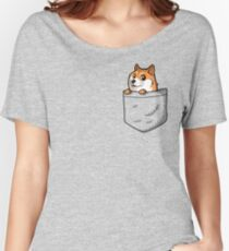 Doge Pocket (Pocket Doge T-Shirt) Women's Relaxed Fit T-Shirt