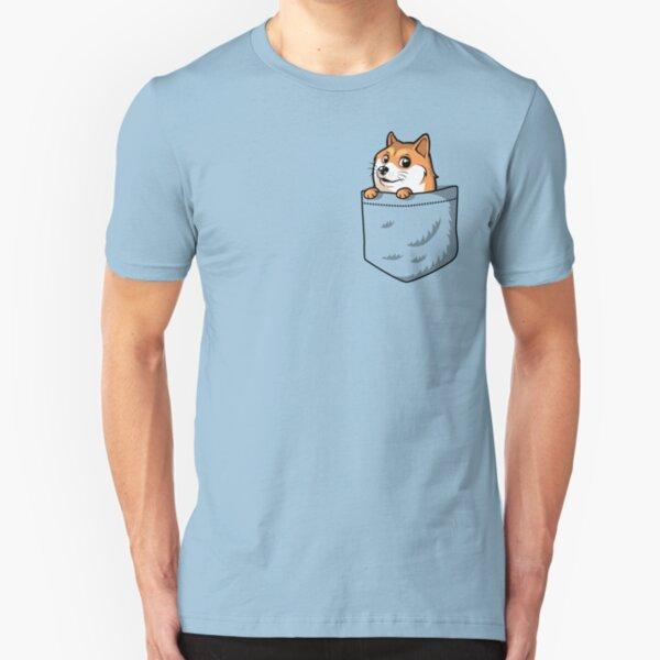 Doge Pocket (Pocket Doge T-Shirt) Slim Fit T-Shirt