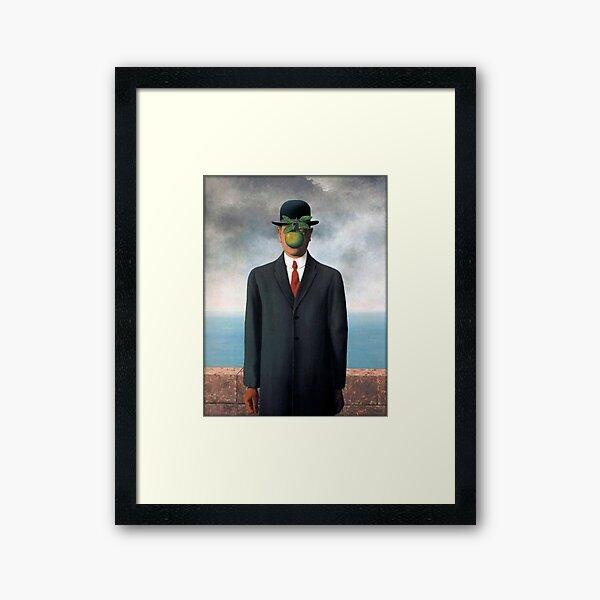 René Magritte - The Son of Man Framed Art Print