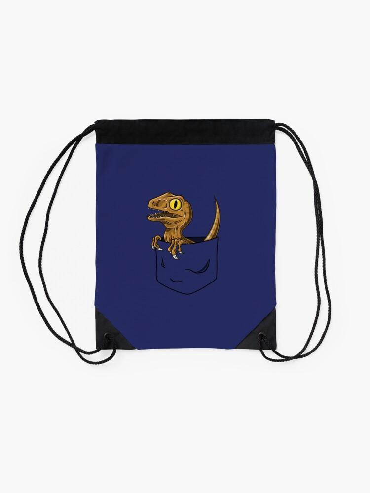 Alternate view of Pocket Raptor T-Shirt Drawstring Bag